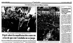 una multitud nacionalista intenta golpear al socialista OBIOLS